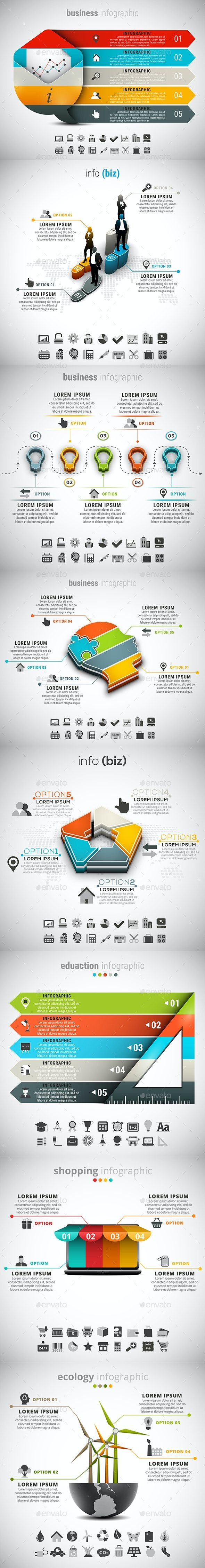 8 in 1 Infographics Bundle in 2020 Infographic