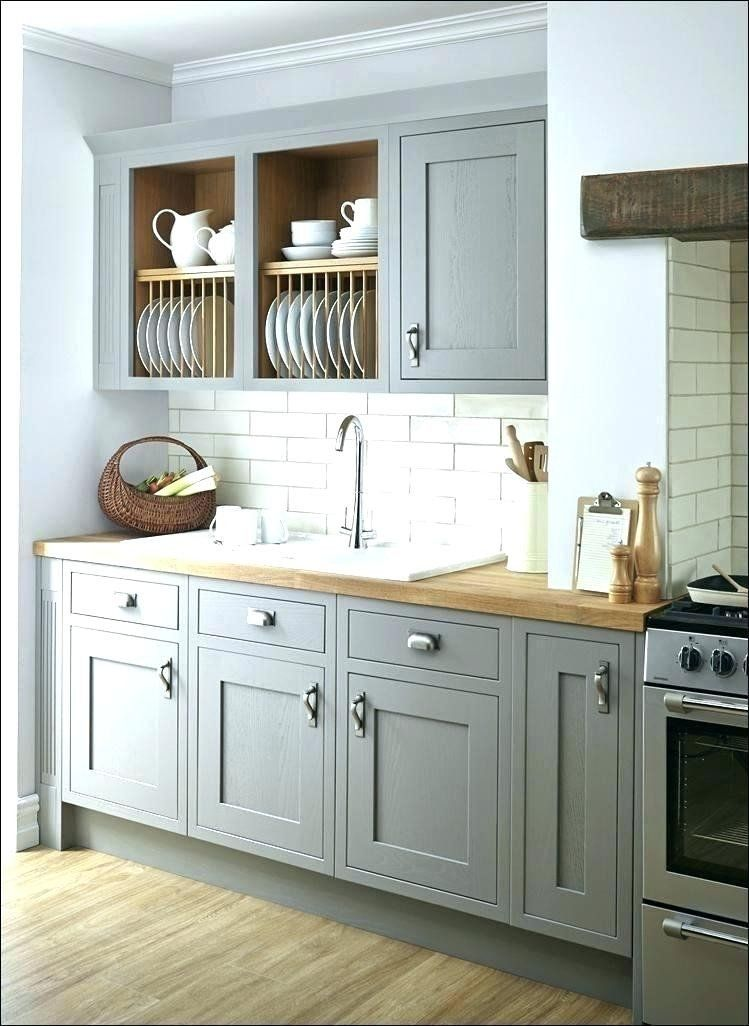Wall Color for Gray Kitchen Cabinet New Blue Grey Painted ...