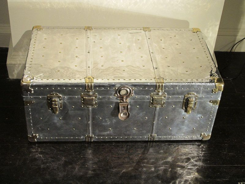 1930s polished steel travel trunk / coffee table | junk in the