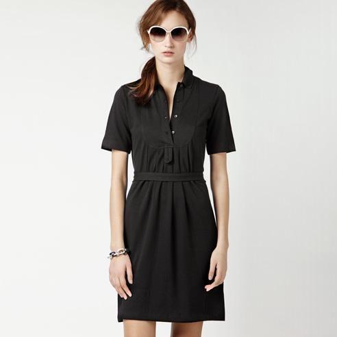 661b907f2b Robe polo ceinturée noire Lacoste | Cadeaux Femme | Robe polo, Robe ...