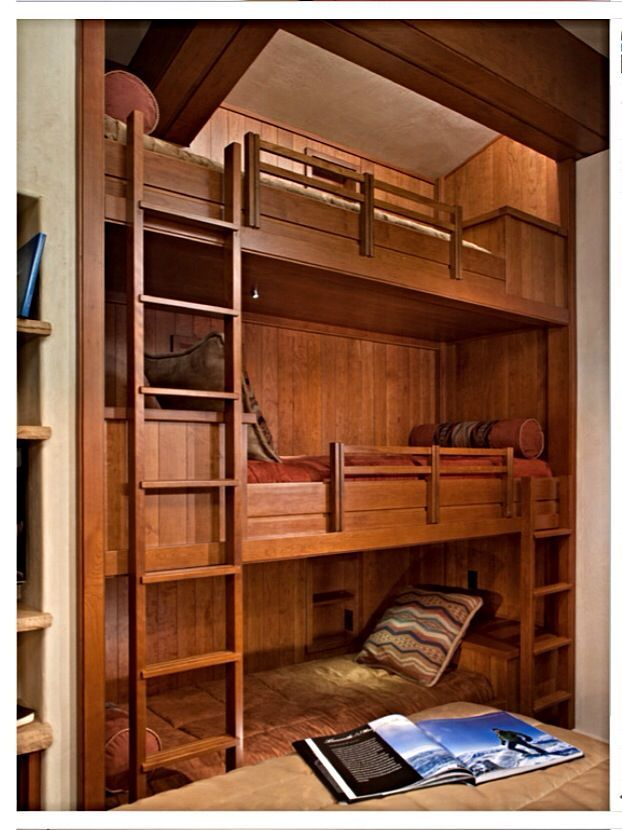 3 Level Bunk Beds Three Level Built In Bunk Beds Boy S Room