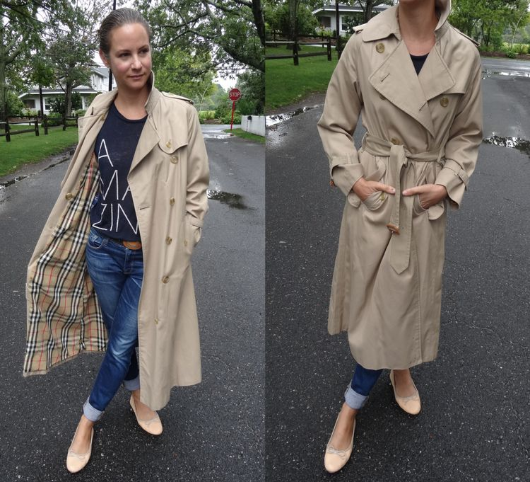 Vintage Burberry Trench Coat, Vintage Burberry Trench Coat