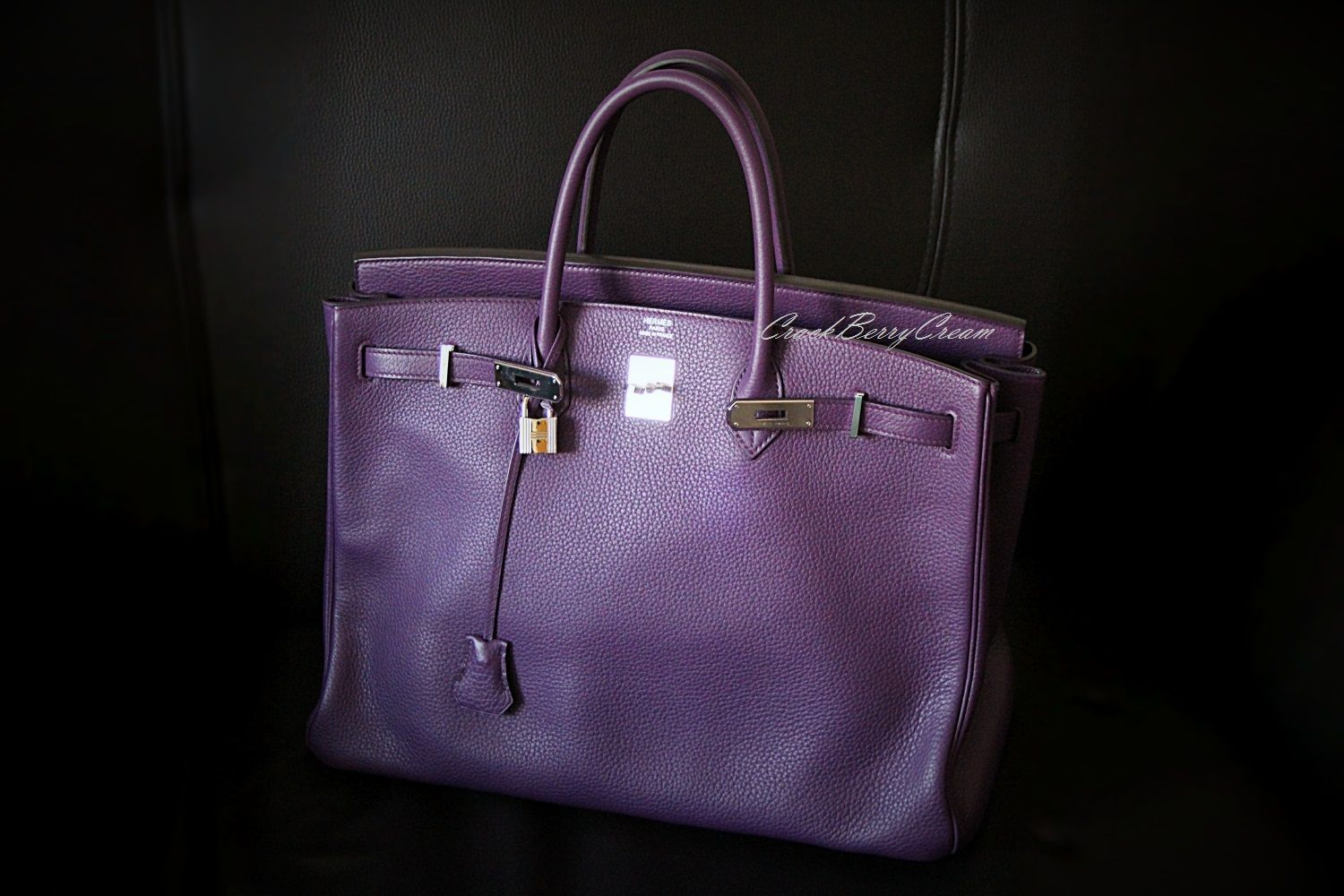 Another shot of my Hermès Birkin 40cm in Ultraviolet Clemence leather