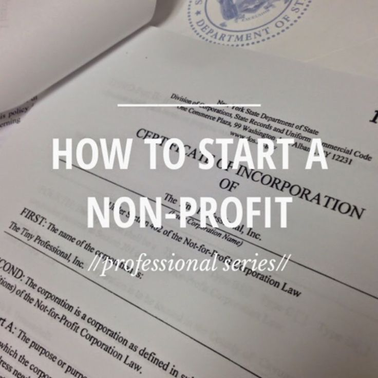 The Steps To Start A Non-Profit