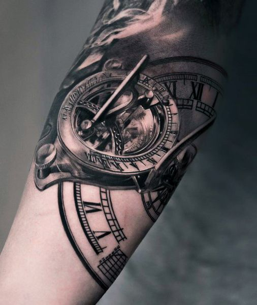 Top 80 Mind Blowing Clock Tattoos 2020 Inspiration Guide Cool Arm Tattoos Arm Tattoos For Guys Clock Tattoo