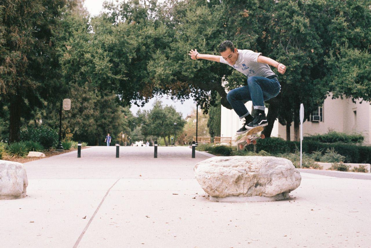 derrickgerlach:  Justin Sanders. Ollie. Claremont. October 2015. Photo Gerlach. #skateboarding #skating #skatephotography #skatephotos #derrickgerlach #nikon #film #kodak