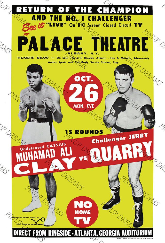 Details about Boxing Poster Classic Vintage Fight Fans re