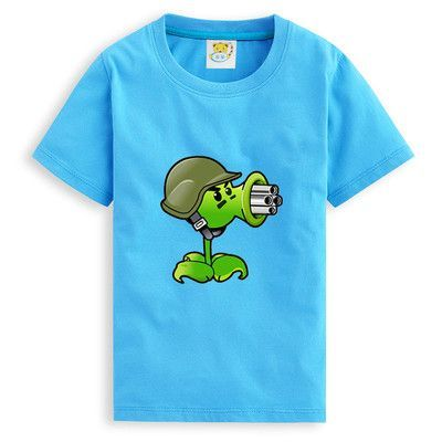 Plants vs. Zombies Cartoon Unisex Kids T Shirt