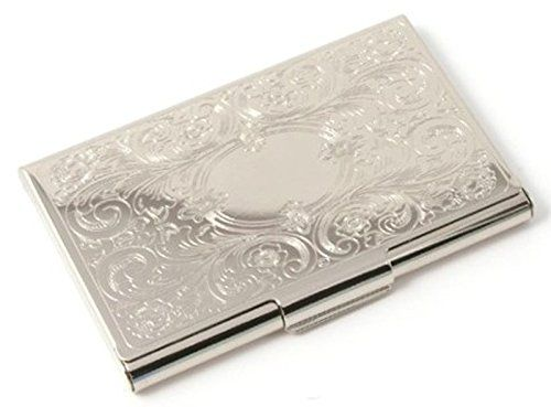 Deluxe Stainless Steel Metal Business Credit Card Holder Case Silver Monogram Business Card Holder http://www.amazon.com/dp/B001PHD49Q/ref=cm_sw_r_pi_dp_pC6Fub07KBJFE