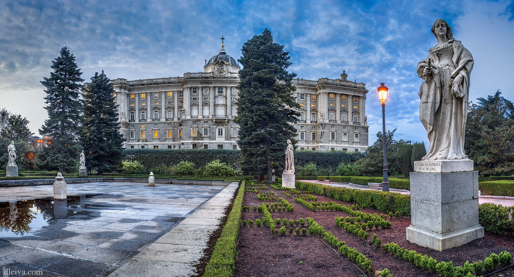 Royal Palace Madrid Spain Northern Facade Of Palacio Real Royal