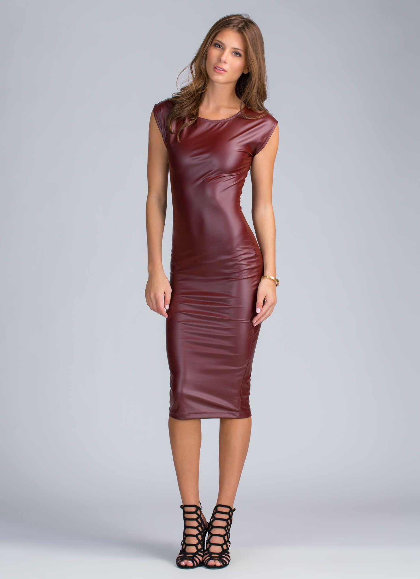 To Die Faux Leather Midi Dress Black Burgundy Leather Midi Dress Leather Dresses Dresses [ 2000 x 1454 Pixel ]