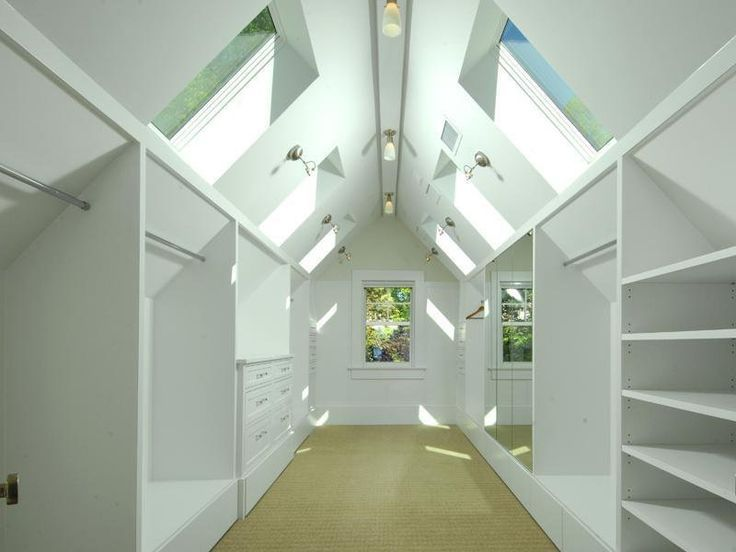 Image Result For Turning Attic Into Walk In Closet