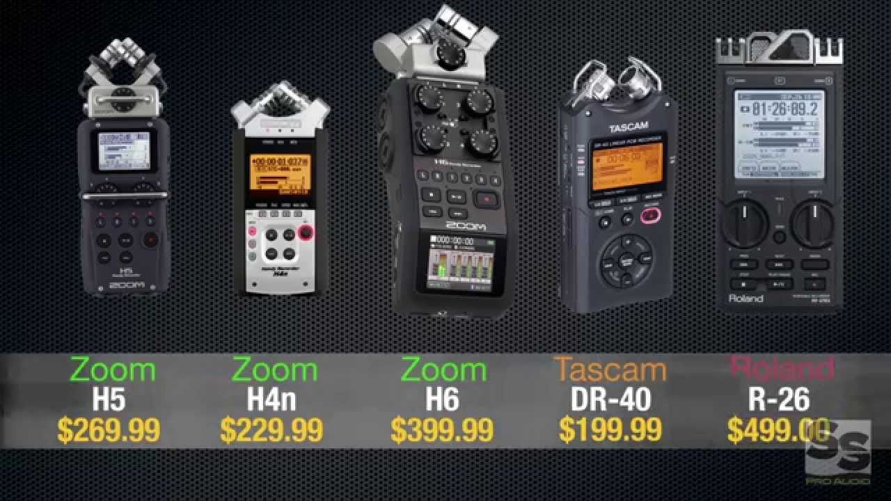 Handheld Recorder Review (Full): Zoom H6, H5, H4n, Tascam DR