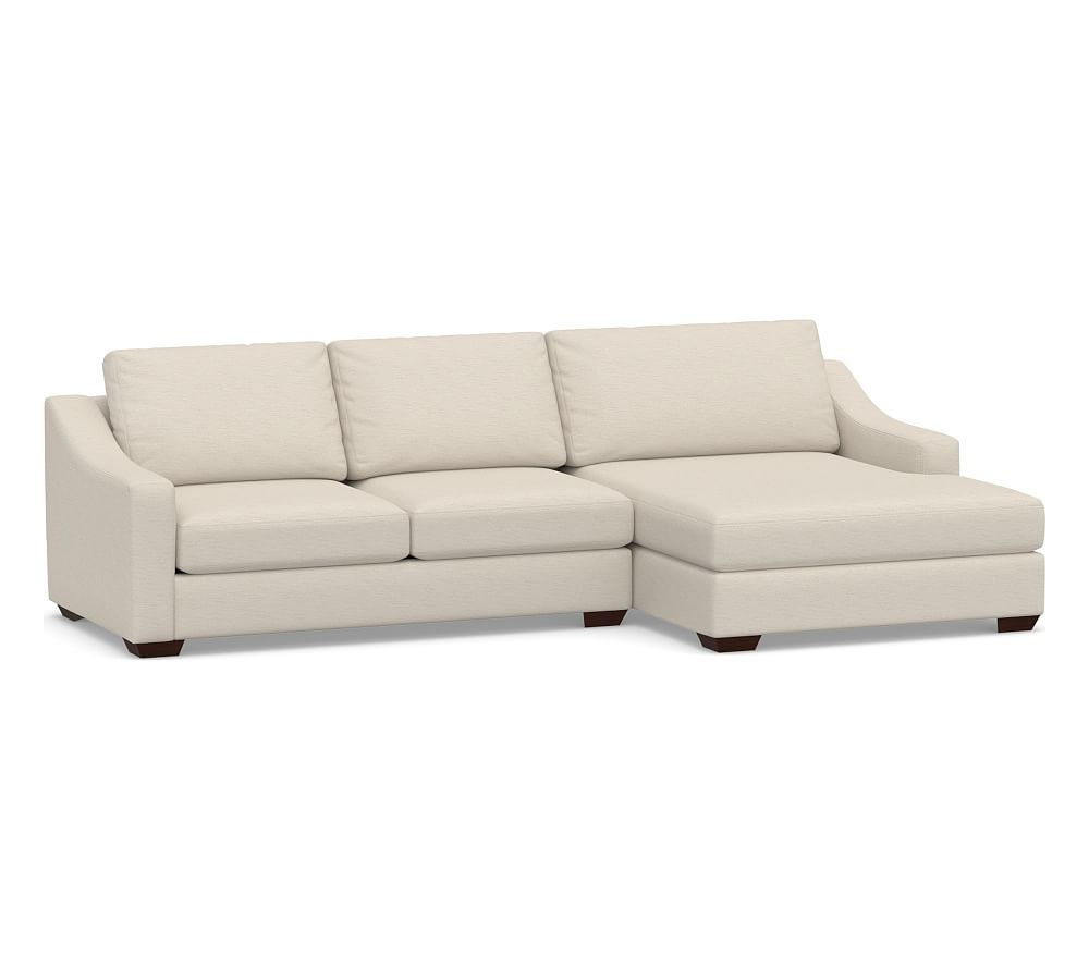 Big Sur Slope Arm Upholstered Sofa With Double Chaise Sectional