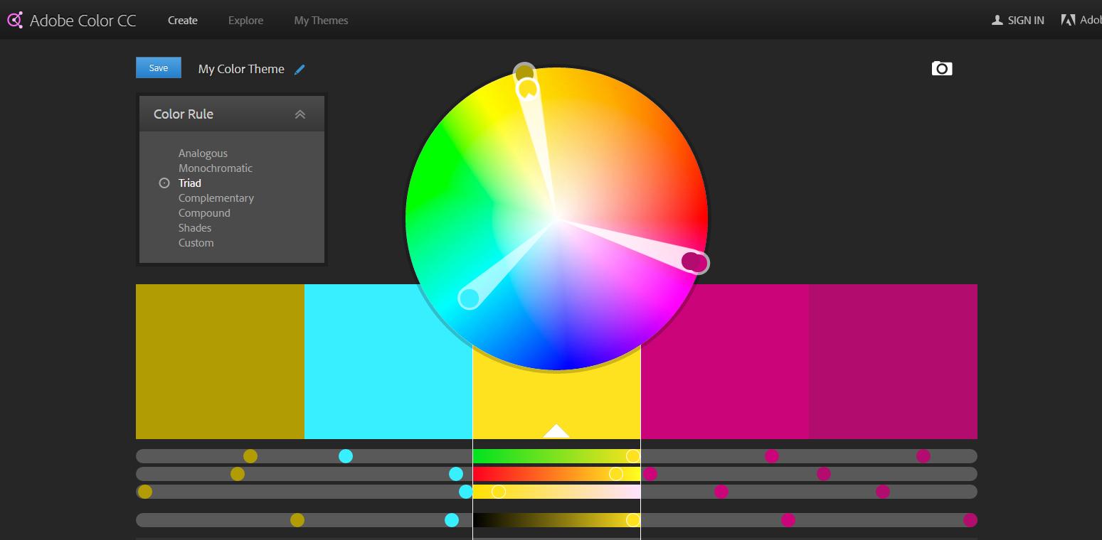 Color Wheel Color Palettes Pinterest Photoshop Palette And Adobe