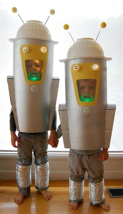 retro roboter kost m selber machen carnaval halloween. Black Bedroom Furniture Sets. Home Design Ideas