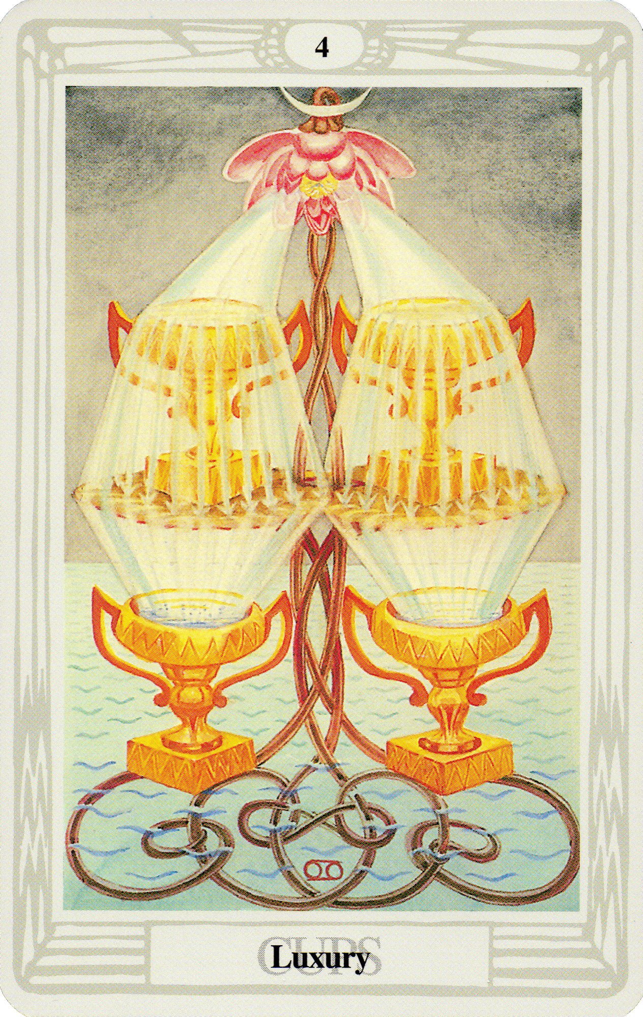 Belle Constantinne - Four of Cups - The Thoth Deck by