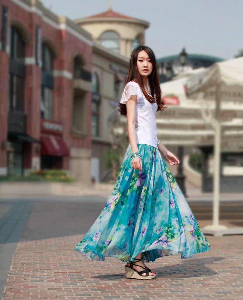 Bohemia-High-quality-Chiffon-Fashion-Elegant-floral-Female-Long ...