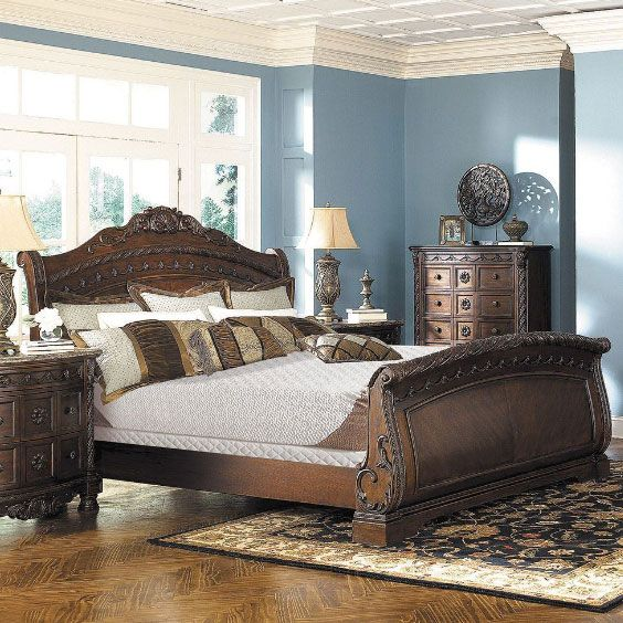 Sleep Like Royalty With The Traditional North Shore 5 Piece Bedroom Set By  Ashley Furniture.