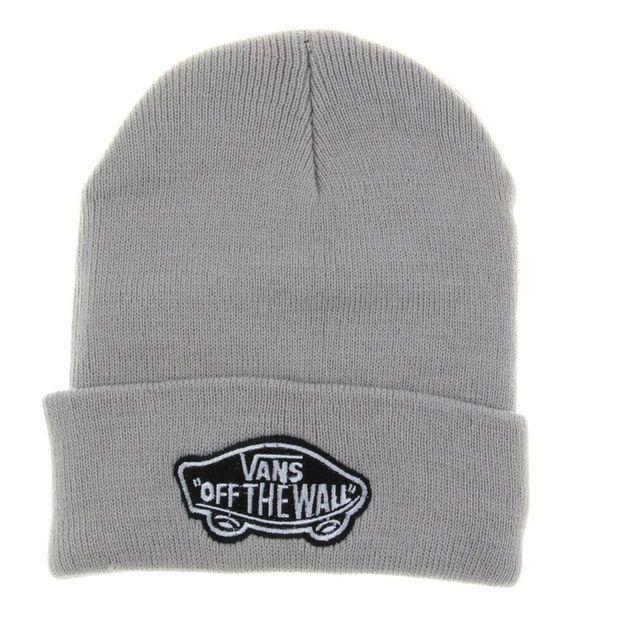 Gray Vans Off The Wall Winter Beanies Truck Cap Knit Hat Unisex Plain Warm  Soft Beanie f3e3849248b