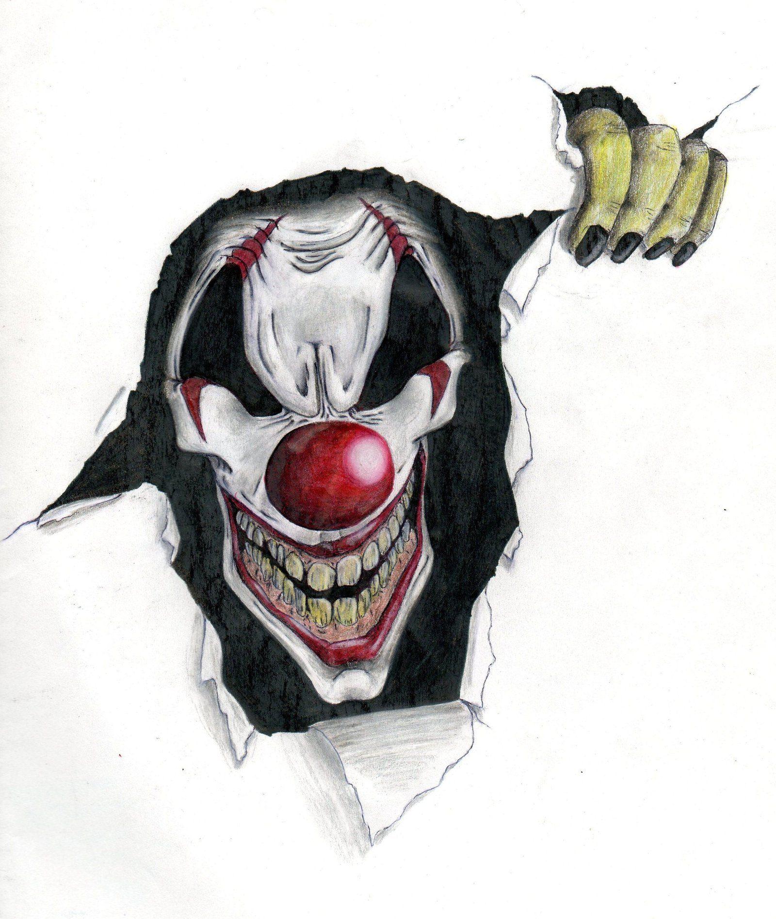злые клоуны картинки эскизы инсигния может комплектоваться