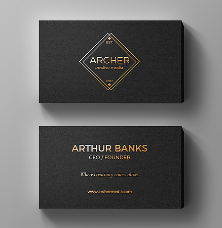 Sample of standard size business card with gold foil and raised text sample of standard size business card with gold foil and raised text create a colourmoves
