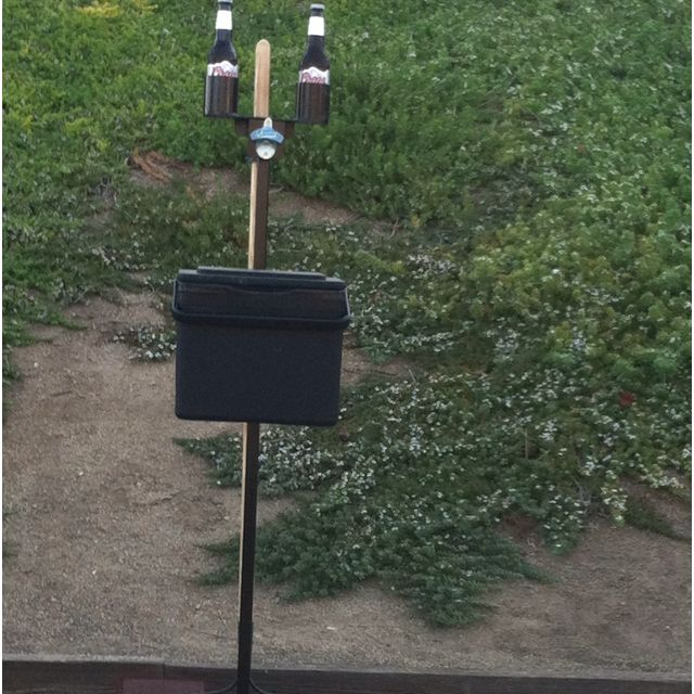 Hubby Made This: Beer Holder,cooler& Rake Stand For