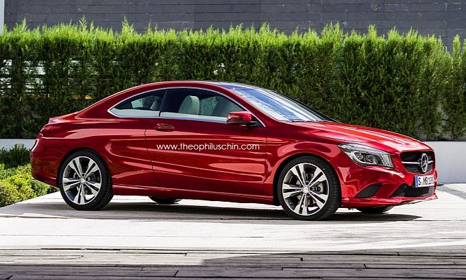 Cla 2 Door Coupe Rendering By T Chin Mercedes New Mercedes