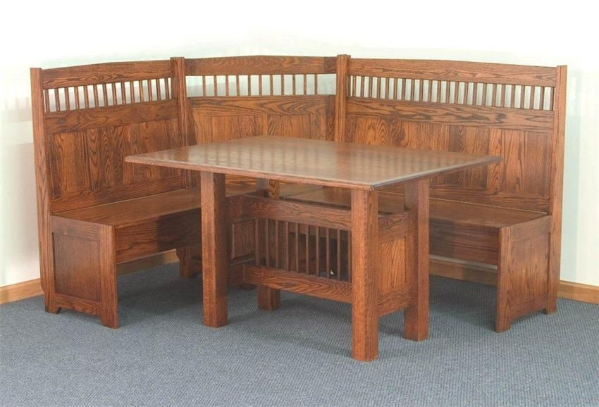 Find Quality, American Made Breakfast Nook Sets, Banquette Sets And Corner  Nooks At DutchCrafters Amish Furniture Store.