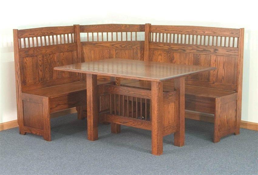 Amish Classic Mission Corner Nook Set   Solid Wood