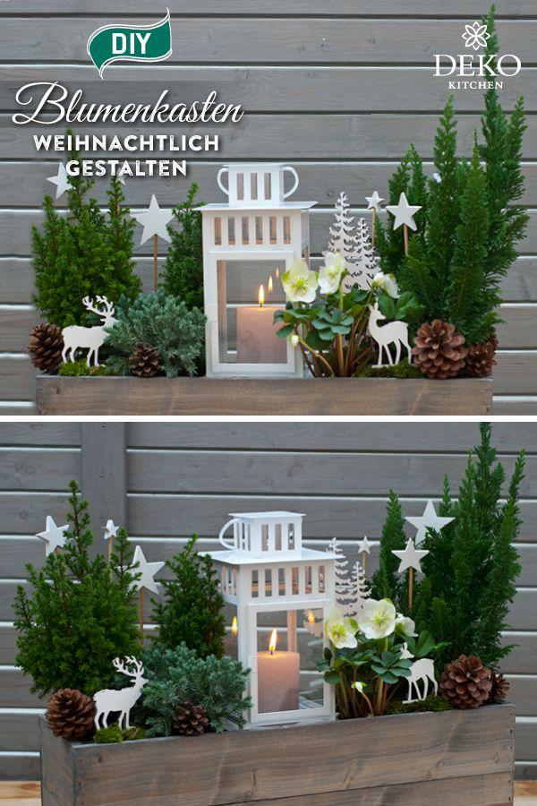 DIY: Blumenkasten wunderschön weihnachtlich gestalten