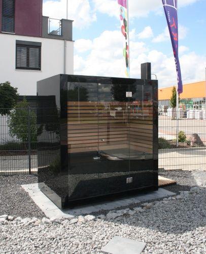 outside design sauna Thermalux Pool  / BackYard Pinterest
