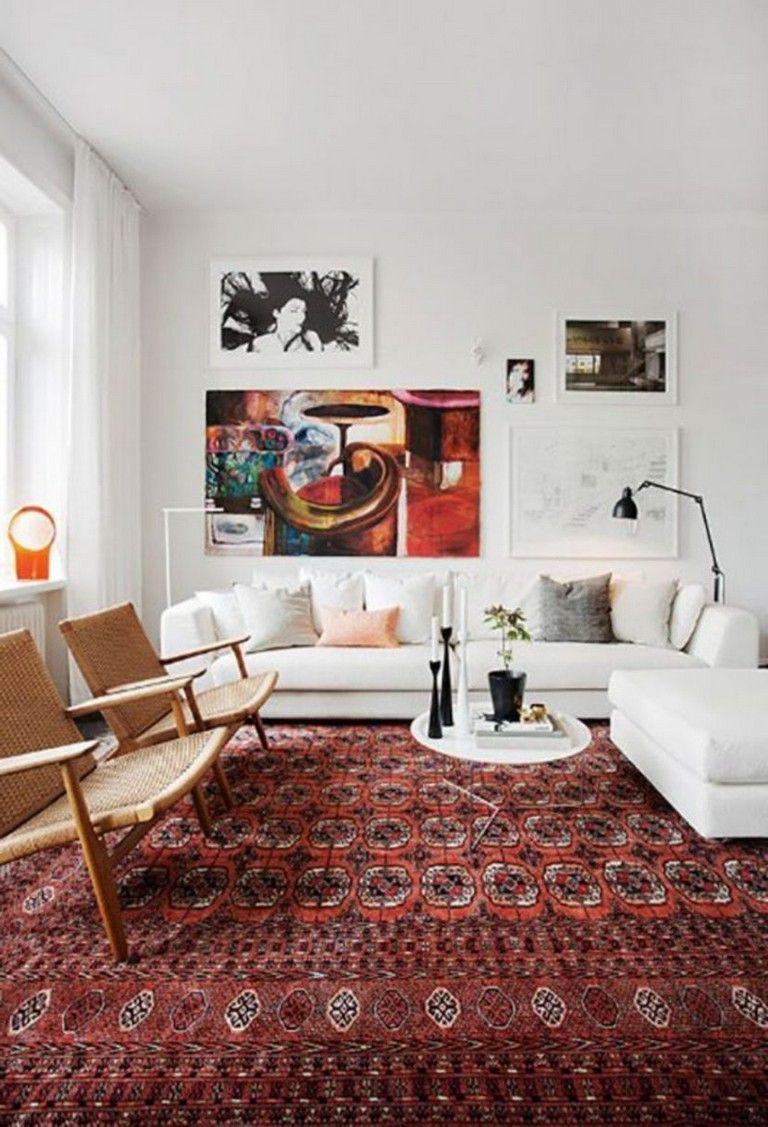 40 Elegant Bohemian Rug Designs For Your Bedroom Bedroomdesign Bohemianbedroom Boh Rugs In Living Room Interior Design Living Room Warm Indian Living Rooms #red #fur #rug #for #living #room
