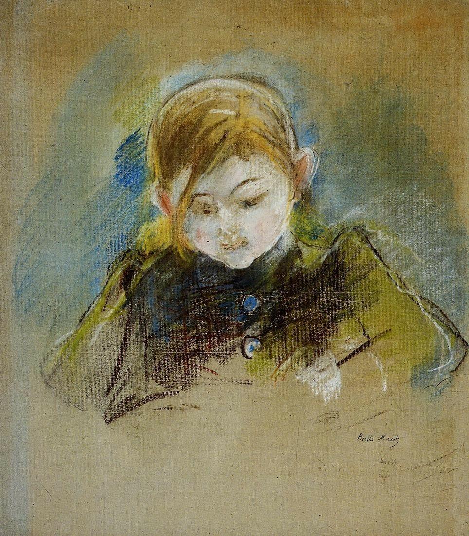 Julie WritingbyBerthe Morisot   Medium: pastel