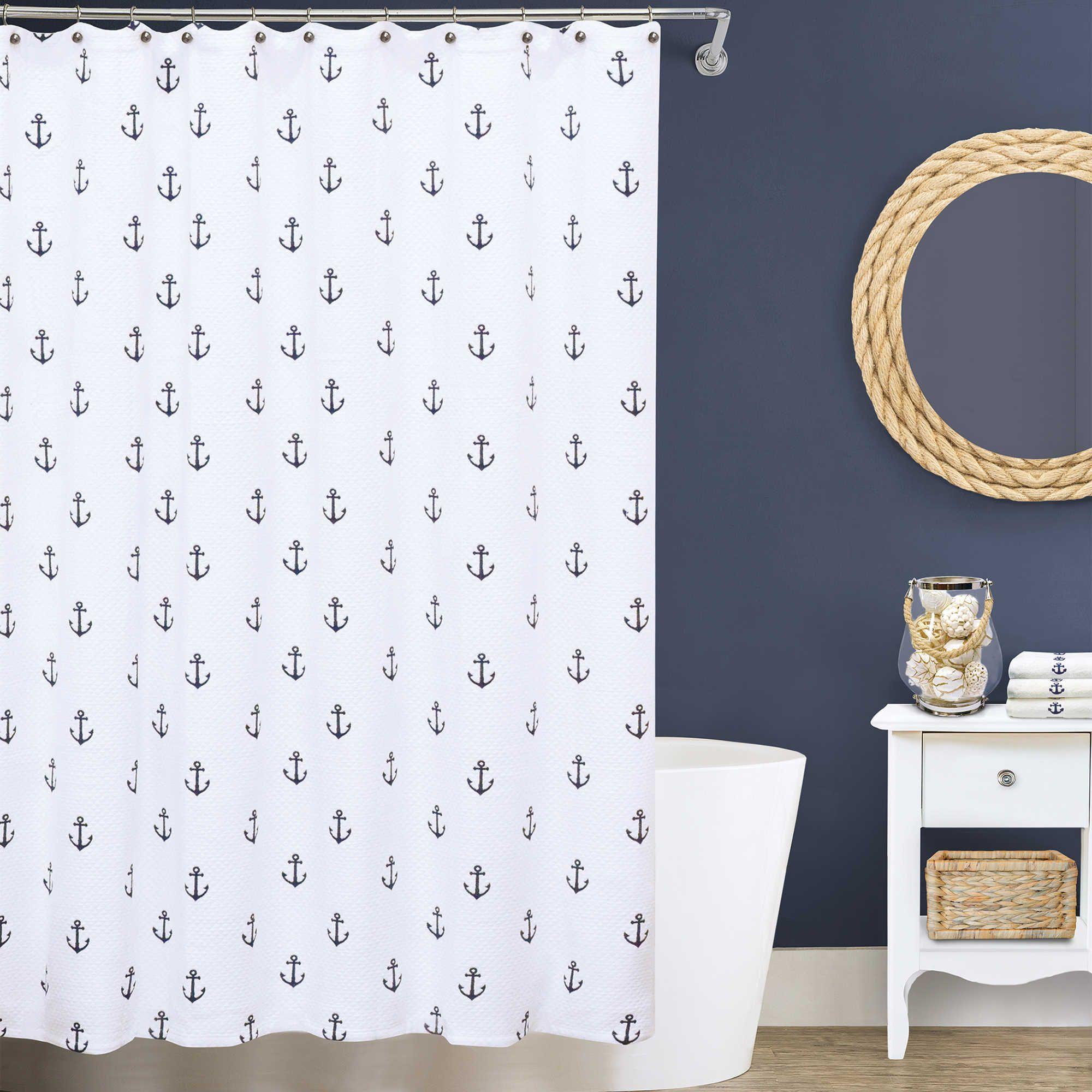 Lamont Home Anchors Matelass Shower Curtain