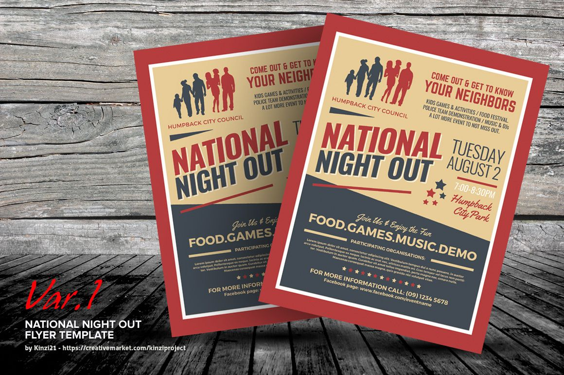 National Night Out Flyer Templates Pinterest Flyer Template And