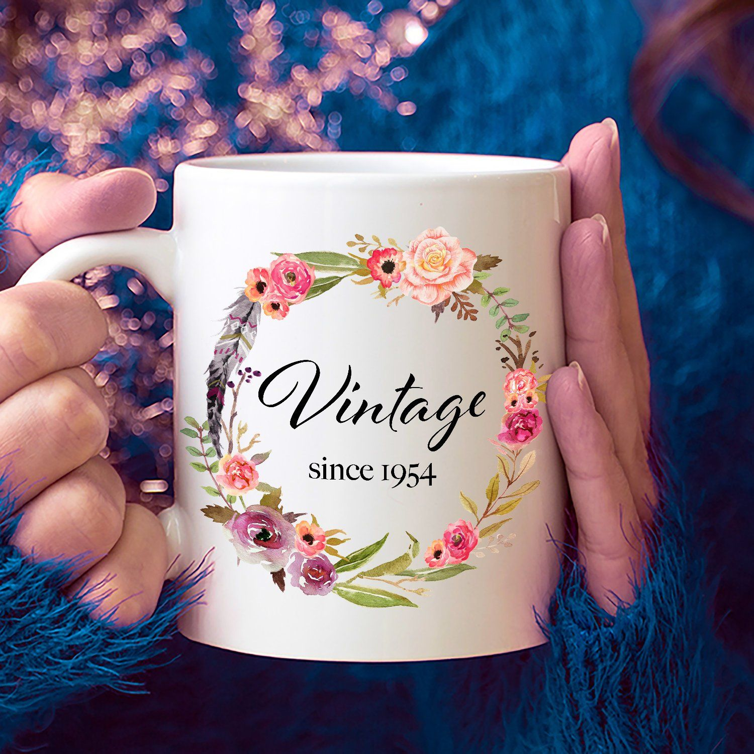 65th Birthday Ideas 65 Year Old Woman Gifts For Women Her Vintage Since 1954 Mug Yr By LittleBeeHome