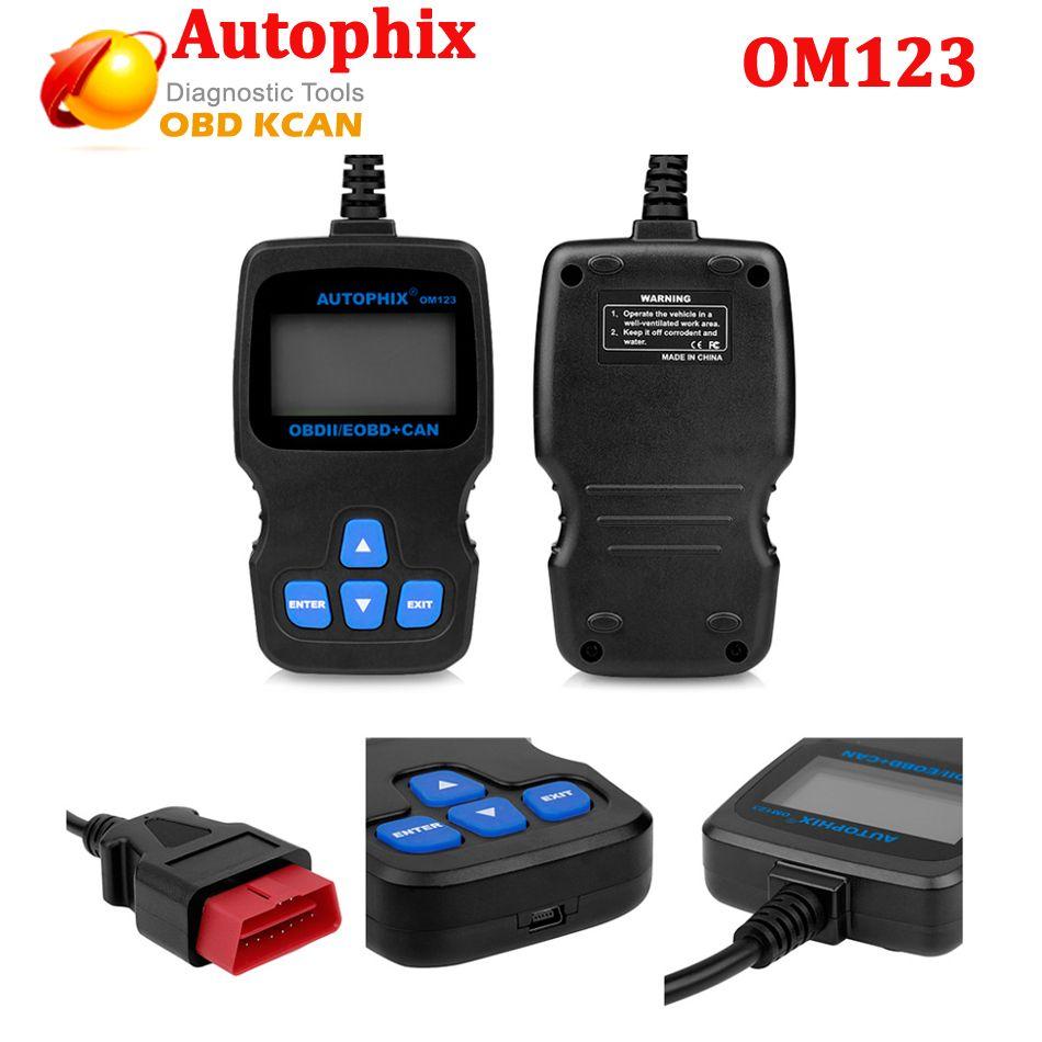 Autophix Om123 Obd2 Eobd Can Hand Held Engine Analyzer Code Reader Russian Portuguese Auto Scan Tool Automotive Scanner Diagnostic Tool Obd Tools