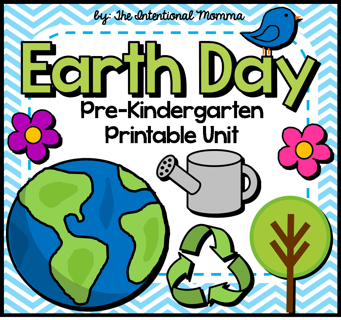 Earth Day printable unit for Pre-K. Worksheets, math, language ...
