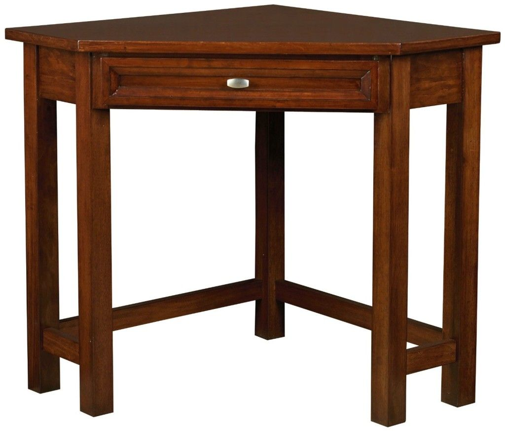Awesome Oak Corner Laptop Desk Simple Brown Corner Desk