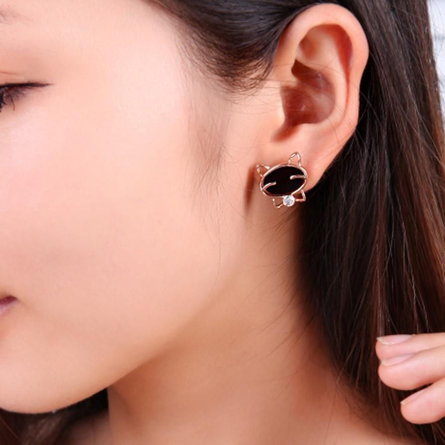 Double sided nose piercing  Kitty Kat Stud Earrings  Products