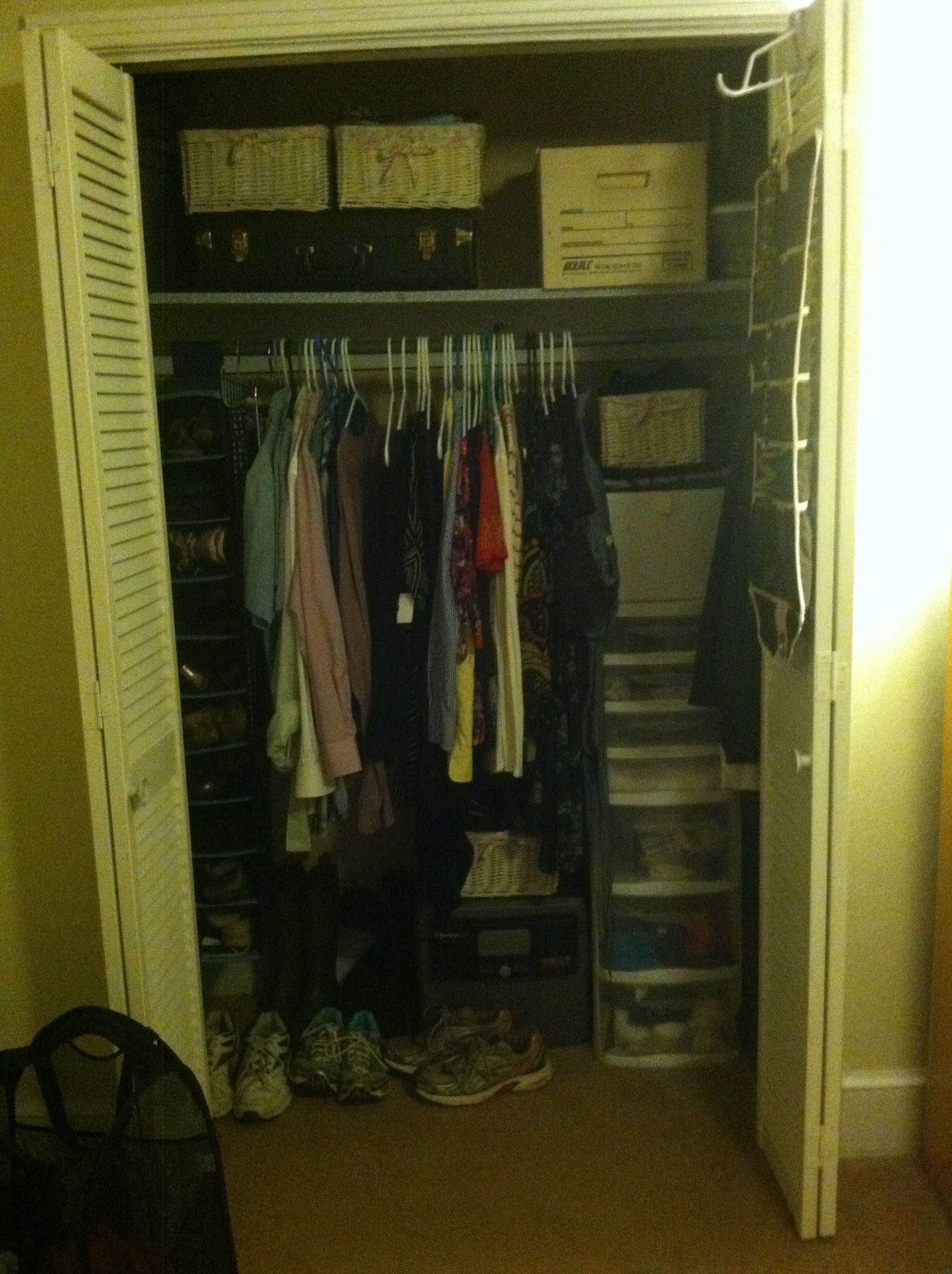 Organized Closet Real Life This Is The Size Of My Real Closet So Lets See  If I Can Organize It Like The Pictures Say?