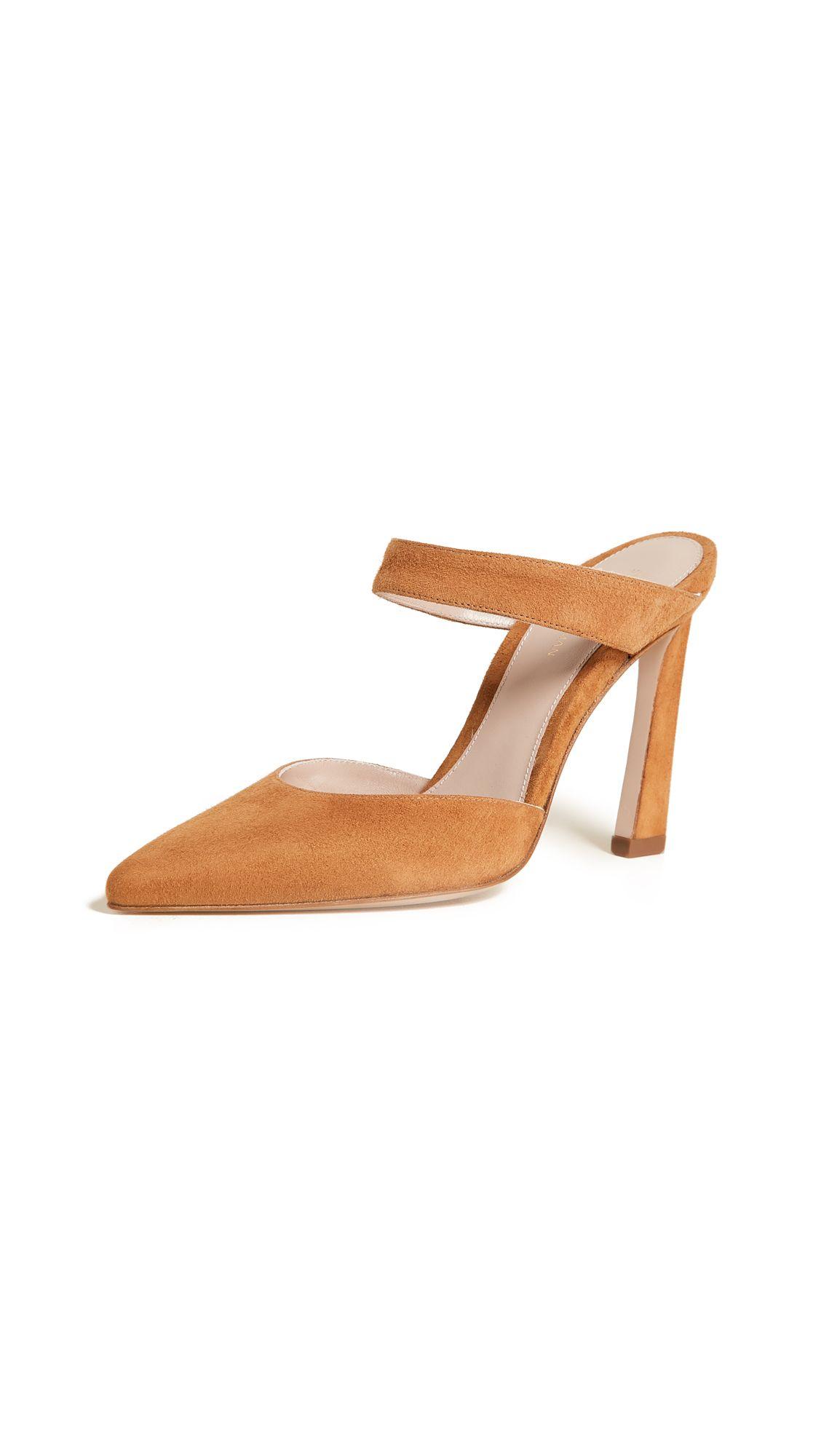 a870016d421 STUART WEITZMAN EVENT MULES. #stuartweitzman #shoes #   Stuart ...