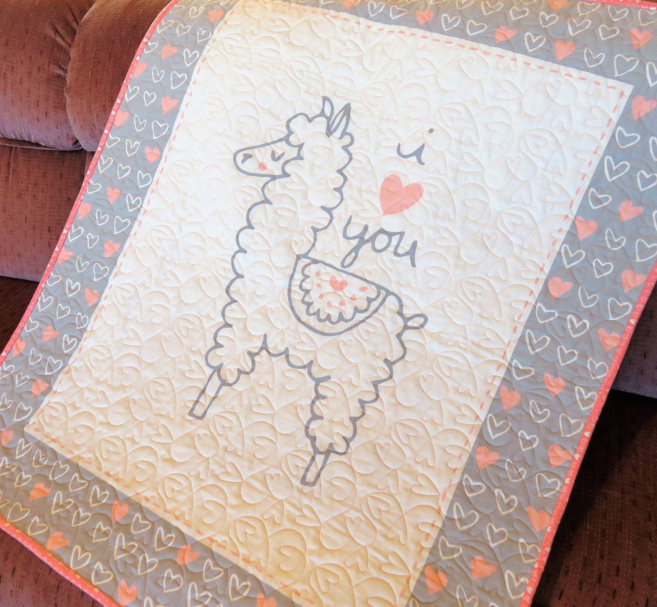 Llama Flannel Baby Blanket