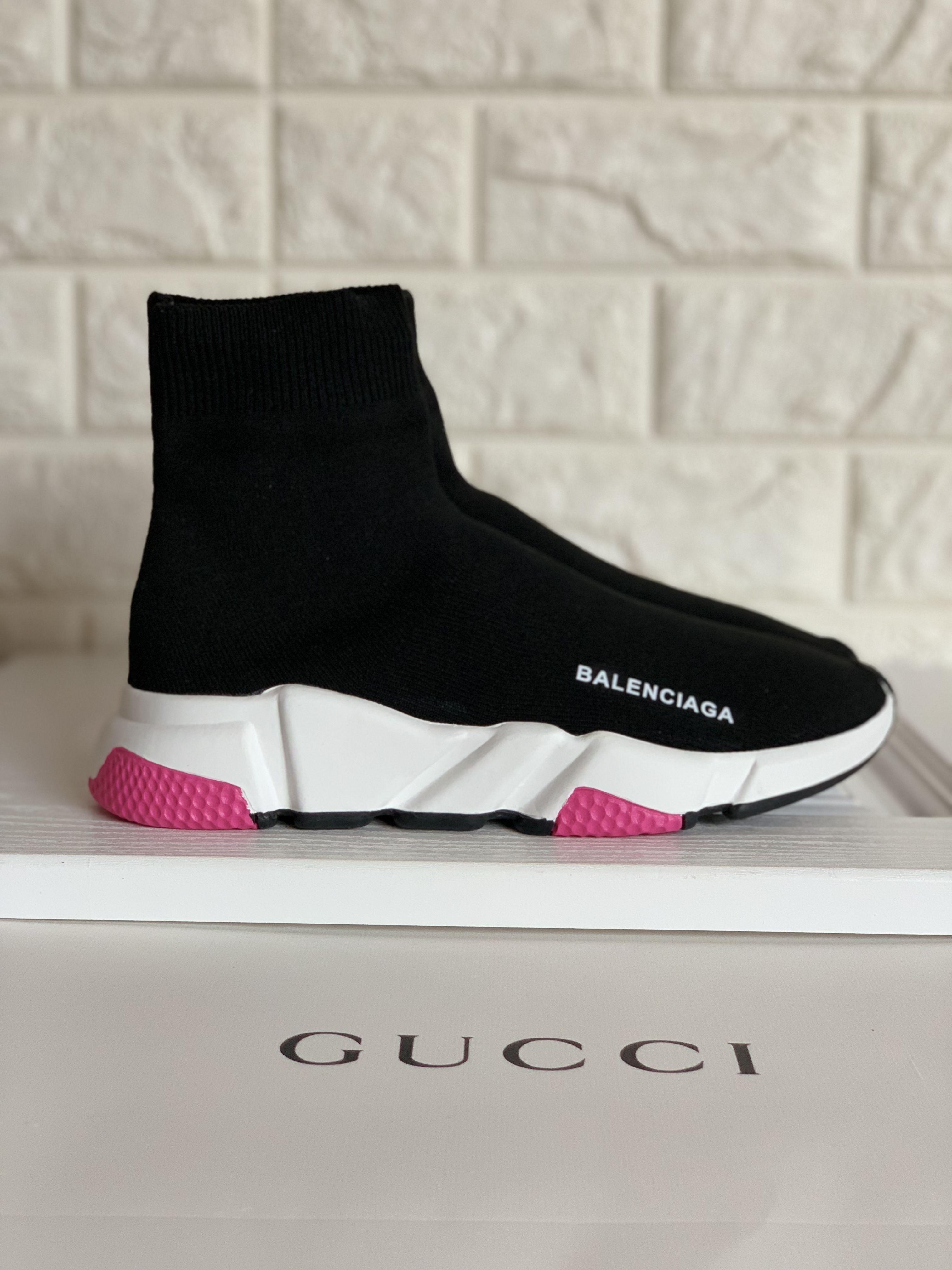 Balenciaga sock boots black with hot