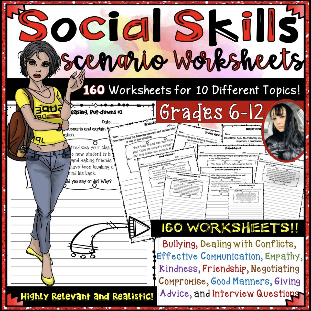 Social Skills Scenario Worksheets 192 Worksheets