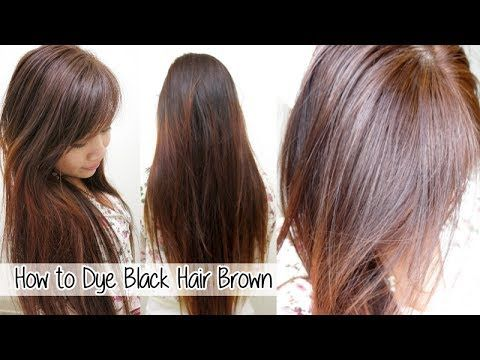 Here S A Tutorial On How To Dye Your Hair At Home From Black To Brown Without Bleach I Used L Oreal Hicolor High Lift Black Hair Dye Hair Dye Techniques Hair