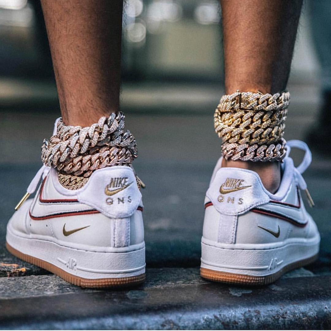 ankle chains via sneakernews Nike, Sneakers, Air force