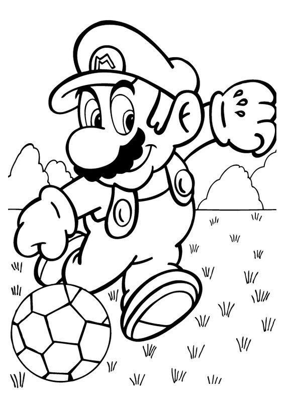 Coloriage De Football Dessin Super Mario En Joueur De Football A Colorier Coloringpagest Super Mario Coloring Pages Mario Coloring Pages Super Coloring Pages
