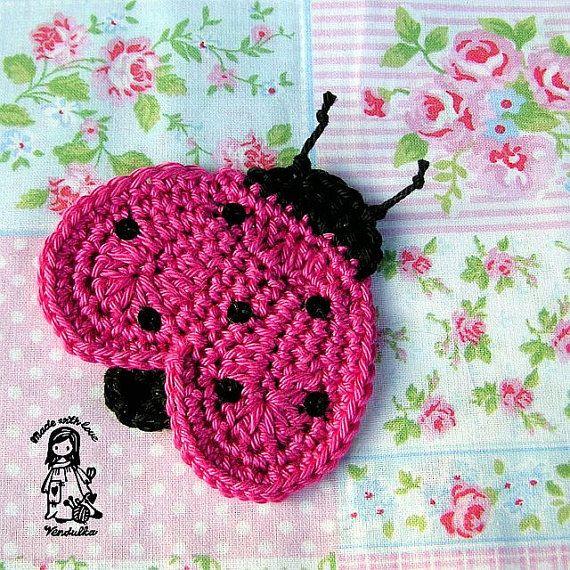 ladybug applique crochet pattern diy needle work pinterest crochet crochet patterns. Black Bedroom Furniture Sets. Home Design Ideas